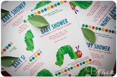 very hungry caterpillar baby shower invitations - Google Search