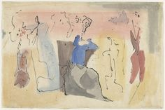 Untitled. 1952, Agnes Martin, watercolour and ink on paper, 11 3/4 x 17 3/4 in., Canada/USA