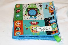 READY TO SHIP Robot Greetings Reversible Lovie by RazzberryGiggles, $15.00