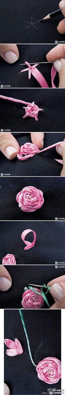 Easy Ribbon Rose