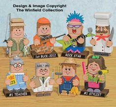 Professional Patio Paver Pals Pattern Set What Professional wouldn't love having one of these cool portrayals of their careers decorating their Office or Home? #diy #woodcraftpatterns