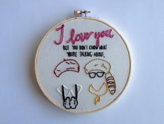 Moonrise Kingdom Embroidery: Sam and Suzy by thefolklohr on Etsy