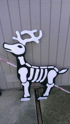 My nightmare before christmas skull reindeer