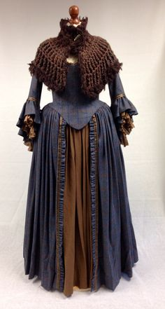 Costume designed by Terry Dresbach for Aislín McGuckin as Letitia MacKenzie on Outlander (2014-)
