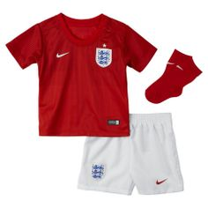 The Official England 2014 Replica Away Infant Kids Football Kit is a pitch ready three piece set and a must have for the smallest England fans in Rio this World Cup. Kids Football Kits, Soccer Kits, England Training Kit, England Fans, Baby Kit, Fifa World Cup, Football Jerseys, Home And Away, Nike