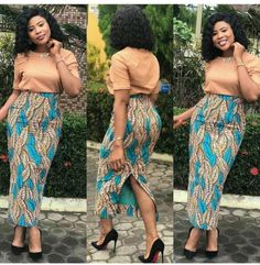 Latest Smart Ankara Dresses To Work Be stylish. Ankara Dresses For Work. Beautiful Ankara Styles, Trendy Ankara Styles, Ankara Dress Styles, Ankara Tops, African Print Clothing, African Print Dresses, African Dress, African Prints, African Wear
