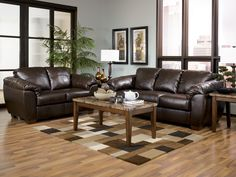 DuraBlend Contemporary Cafe Fabric Living Room Set