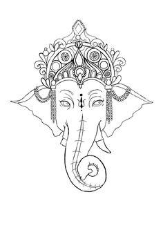 Ganesh Outline Tattoo Simple ganesha tattoo