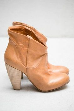 Camel Boots. Good color. Not sure if I like the rounded heel.