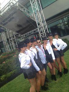 Qantas Airways grid girls 2012