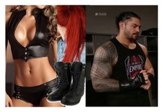 """""""Backstage promo with Roman!!"""" by carmellahowyoudoin ❤ liked on Polyvore featuring WWE and RomanReigns"""