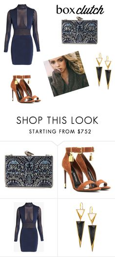 """""""BoxClutch"""" by anabela242000 ❤ liked on Polyvore featuring KOTUR, Tom Ford, Balmain, Lana, women's clothing, women's fashion, women, female, woman and misses"""