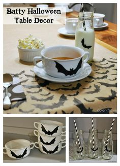 Batty Halloween Table Decor {Dolen Diaries}