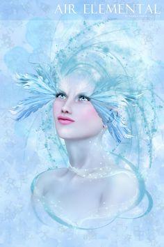 """Elements Air:  """"#Air Elemental (Portrait),"""" by Pamela Delli Colli."""