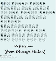 Mulan's Reflection Ocarina Tabs, Ocarina Music, Disney Songs, Disney Memes, Easy Sheet Music, Music Sheets, Music Tabs, Musica, Tablature