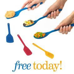 Thursday, May 26, 2016 - FREE Silicone Spoons and Spatulas! Get a pair of our most useful, all-silicone cooking tools in fun, vibrant colors. These guys will work hard for you doing any task, and the silicone makes them heat resistant and safe for any surface.