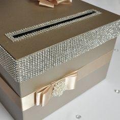 Card box / Wedding Box / Wedding money box by DiamondDecor on Etsy Money Box Wedding, Wedding Gift Boxes, Wedding Cards, Diy Wedding, Wedding Gifts, Wedding Ideas, Wedding Envelope Box, Wedding Envelopes, Wedding Stationery