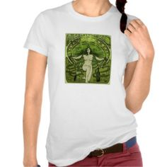 Ladies Art Nouveau Absinthe Poster Tee Shirt