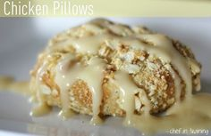 Chicken Pillows - these might sound weird but they are so EASY and the best thing ever! I shredded a roasted chicken from the grocery store, used low fat cream cheese and only 1/2 the butter. They were delicious