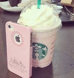 Starbucks and iPhone Pink! Bebidas Do Starbucks, Starbucks Secret Menu, Starbucks Drinks, Starbucks Coffee, Hot Coffee, Pink Starbucks, Starbucks Quotes, Coffee Shop, Cute Phone Cases