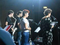 sul palco con Luisa il combo di Brandon Lee