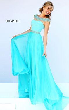 Aqua Sherri Hill 32220 Beads 2015 Prom Dress http://www.noellesnakedtruth.com/