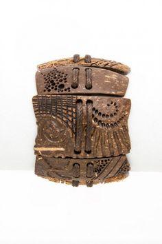 Hand geschnitzt braun unisex Armband Sea Breeze von Coconut Shell Eco Kunst natrlichen Mnner FrauenGeschenk fr ihr Geschenk fr ihn moderne Holz schnit