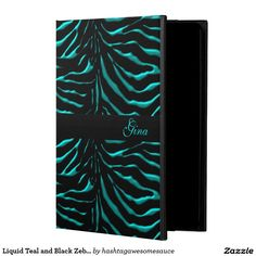 Liquid #Teal and #Black #Zebra #iPad Air 2 Case Powis iPad Air 2 Case   #zazzle