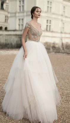 Featured Dress: Alon Livne White; Wedding dress idea.