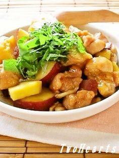 鶏肉とサツマイモ炒め