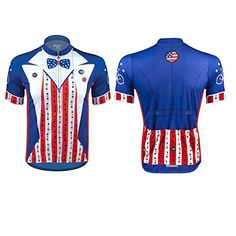 33bdb6f26 Aero Tech Sprint Jersey - Uncle Sam - Patriotic Cycling Jersey Made in USA  - Red White Blue