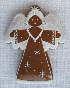 Angel Cookies, Xmas Cookies, Iced Cookies, Cupcake Cookies, Xmas Food, Christmas Cooking, Christmas Desserts, Christmas Treats, Christmas Gingerbread