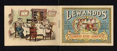 Victorian Booklet DRESSED CATS Advertising Lewandos Cleaners/Dyers, BOSTON.USA. (03/20/2012)