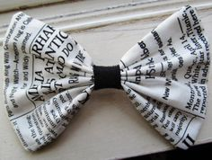 Newspaper Chic Big Hair Bow by PinsAndDots on Etsy, $4.50