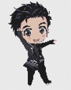 Yuri on Ice Skating Yuri Cross Stitch by PutAPinInItDesign