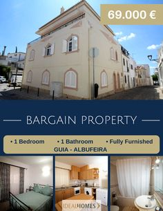 1 bedroom apartment in Guia, Albufeira, Algarve. Fully furnished. 69,000€ Reference: IDH7742 www.idealhomesportugal.com