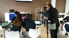 Ayer estuvimos en el colegio Madre de Dios Ikastetxea, en Bilbao, grabando una sesión de nuestro programa de matemáticas para secundaria #ONMAT. ¡Lo pasamos genial!