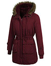 Women's Winter Faux Fur Lined Parkas Hooded Quilted Anoraks Jackets Long Coats