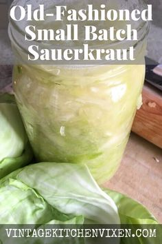 Raw sauerkraut is one of those magical probiotic-rich foods that's teeming with vitamins. If you've never made sauerkraut before, I'll take you through the process step-by-step. You won't even need anything fancy! We'll keep it simple, making this easy sauerkraut recipe the old-fashioned way. #sauerkraut #sauerkrautrecipe #fermentedfoods #probiotics #healthyrecipes #fermenting #rawsauerkraut #guthealth #cabbage #cabbagerecipes #simpleliving