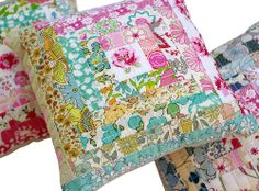Red Pepper Quilts - cute pincushions with Liberty Lifestyle