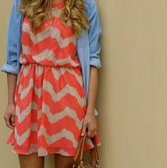 Dress + Chambray shirt