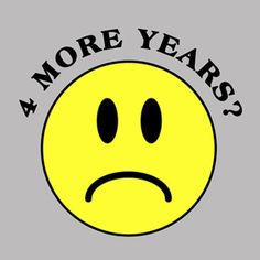 4 More Years of Obama No Smiley Face Clean Version T-Shirt $15.76