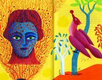 Paintings on Books VII by Russell Cobb, via Behance
