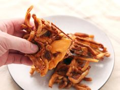 Stick your old french fries in the waffle iron for an awesome, crispy, pull-apart waffle snack.