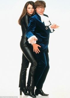 Back to her roots: Liz famously wore the catsuit when she played Vanessa in Austin Powers back in 1997