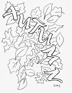 coloring pages autumn leaves.html