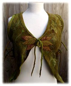 Green Woodland Pixie Vest Adjustable Pixie Vest- Fairy Vest