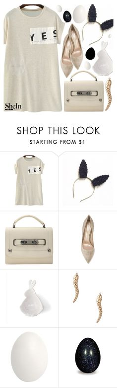 """""""Spring clean casual look with shein"""" by pastelneon ❤ liked on Polyvore featuring Gianvito Rossi, Bellezza, Maison Margiela, Spring, Easter, white, Sheinside and shein"""