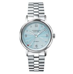 Tiffany CT60 34mm with ice-blue dial. Tiffany & Co. presented a new version of its CT60 3-hand model for Ladies reimagining it with a new ice-blue coloured flinqué finished dial. Tiffany CT60 34mm with ice-blue dial
