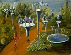 Remedios Varo (Spanish-Mexican painter) 1908 - 1963 Tiforal, 1947 gouache on cardboard x 32 cm. Three Witches, Arte Tribal, Photo D Art, Surreal Art, Sacred Geometry, Artist At Work, All Art, Les Oeuvres, Abstract Art